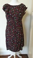 F&F Polka Dot Ruffle Detail Tea Summer Dress Size 12 14