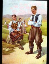 YOUGOSLAVIE / COUPLE en COSTUME NATIONAL de SERBIE en 1961