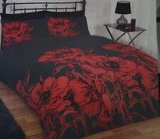 Ex chain store Easycare complete duvet set double RRp £29.99  Red & Black
