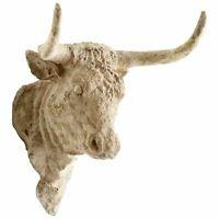 Madrid Bull Head Wall Decor French Country Farmhouse Farm Cow ~Cyan Design 06266