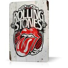 METAL TIN ROLLING STONES ROCK CLASSIC Retro Vintage Decor Garage Wall Bar Pub