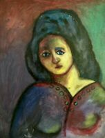 Henri Matisse (Attr) Fauvism Girl Signed On Frame De La Grande Masse Stamp