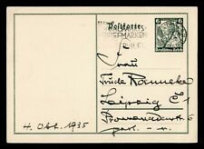 DR WHO 1935 GERMANY LEIPZIG POSTAL CARD STATIONERY C186709