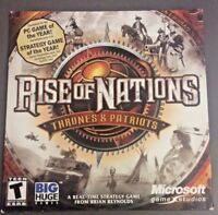 Rise Of Nations Expansion Thrones & Patriots RTS Microsoft PC 2004 w/ Key