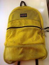 JanSport Mesh Backpack, School Bookbag Yellow book bag