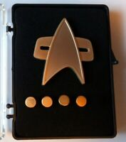STAR TREK DS9 Communicator Rank pin Set (matt) Captain limited Edition neu