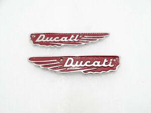 New Ducati Scrambler 350Cc Petrol Tank Red Alloy Badges