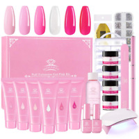 Makartt Pink Poly Nail Gel Kit, Nail Extension Gel Builder Gel Kit Nail Enhancem
