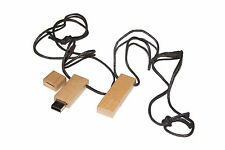 Wood pendant with necklace - Computer USB Stick 16 GB memory / USB Flash Drive