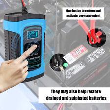 12V 6A 100Ah Caricabatterie Mantenitore Carica Batteria +Cavo Per Auto Moto M4V0