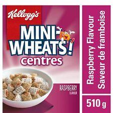 4x Boxes Kellogg's Mini Wheats Centres Raspberry Cereal 510g Each Canada FRESH