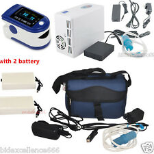 Home Travel Portable Oxygen Concentrator Generator+2 Battery+Contec Oximeter CE