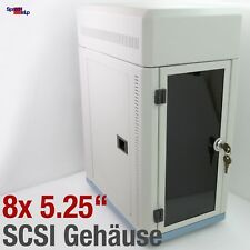 """SCSI GEHÄUSE CASE FÜR 8x GERÄTE DEVICES 5.25"""" 3.5"""" MIT LÜFTER COOLER CD-ROM DVD"""