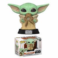 Funko- Pop Star Wars:The Mandalorian-The Child w/Frog Figura Coleccionable