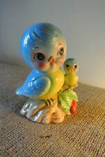 Vintage 1950's Norcrest Bluebird Figurines Ceramic Coin Bank Htf Rare Blue Bird