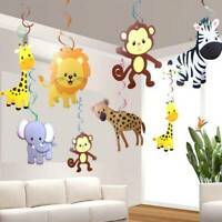 30PCS/SET Safari Animal Jungle Ceiling Hanging Swirl Decorations Baby Shower l
