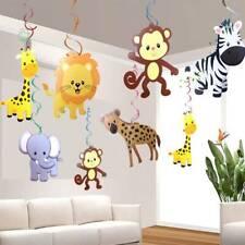 30PCS/SET Safari Animal Jungle Ceiling Hanging Swirl Decorations Baby Shower
