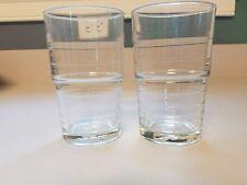 """2 IKEA Svepa Stackable 4 7/8"""" Clear Glass Tumblers 12144 Retired HTF-Turkey"""