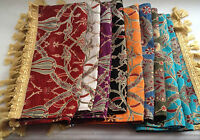 "Turkish Tulip Carnaby Pattern Table RUNNER & Tassels 55""x17"" Jacquard Handmade"