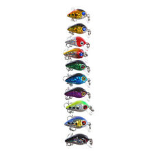 Fishing Lures Crankbaits Hooks Bass Minnow Baits Tackle Length 1.0 Inch