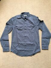 "NEXT Men's Grey Cotton Utility Long Sleeve Shirts, Small Size 36-38"", £25"