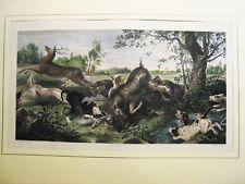 Caza.Litografia original.Madrid 1833