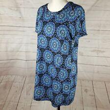 Dotti Dress Size 12 Blue Short Sleeve Shift