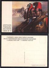 CARTOLINA  MILITARE SOMALIA 1 Adunata Roma truppe Coloniali Ann. Impero 1936-37