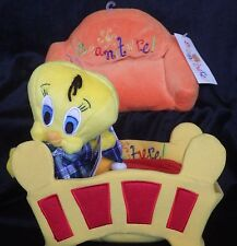 Tweety beanbag Beaniture couch bed set of 3 Warner Bros Store retired rare NWT