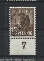 Berlin Nr. 6 UR dgz postfrisch mit Unterrand tiefst BPP Schlegel geprüft MNH