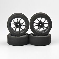 4X Competition Car Foam Tires & Rims Set For 1/10 On-road RC Car 23003 12mm Hex