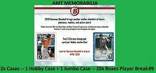 Justus Sheffield Mariners 2020 Bowman JUMBO + HOBBY 2X Case 20x BOX BREAK #9