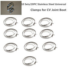10 sets of Universal Stainless Steel Drive Shaft Axle Boot CV Joint Boot Clamps