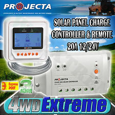 PROJECTA SC320D NEW 12V & 24V 20AMP SOLAR PANEL CHARGE CONTROLLER & REMOTE LVD