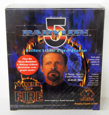 Babylon 5 CCG Wheel of Fire Edition Booster Box 24 Packs 9 Cards Each Sealed New