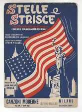 Spartito STELLE E STRISCE John Philip Sousa 1955 The stars and stripes forever