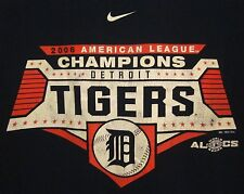 DETROIT TIGERS tee XL Old English D logo Nike 2006 American League Champions MLB