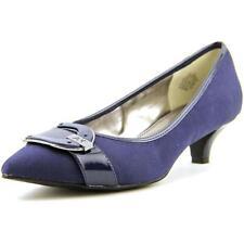 Zapatos de tacón de mujer de tacón medio (2,5-7,5 cm) de color principal azul de lona