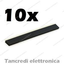 10 Connettore a striscia femmina da circuito stampato 40 poli passo 2,54 arduino