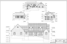 Full Set of two story 5 bedroom house plans 2,820 sq ft