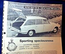 TRIUMPH 2000 ESTATE CAR -1966 - Road Test from MOTOR magazine