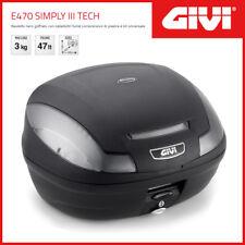 Coffre Givi Case E470 Simply III Tech Universel - Noir / Cat. Fumée '