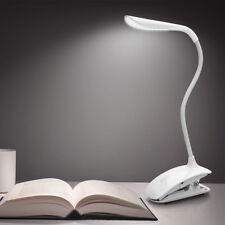 Leselampe Klemmleuchte LED Schreibtischlampe mit Schwanenhals dimmbar Touch USB