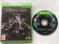 MIDDLE EARTH SHADOW OF WAR XBOX ONE V.G.C. FAST POST 4K ULTRA HD ( RPG game )