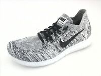 905420864ebe7 NIKE Free RN Flyknit Shoes Black White Gray 880844-101 Running US 8.5 EU 40