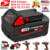 For Milwaukee M18 XC 2 5.0 AH Extended Capacity Battery Pack 48-11-1852 Charger
