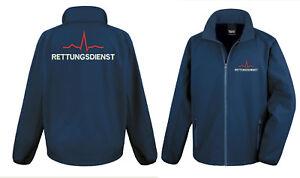Softshell Jacke Rettungsdienst + EKG Größe: S - 4XL / Notarzt