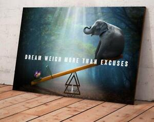 Elephant and Butterfly Canvas With Framed / Poster no Framed