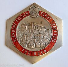 Plakette Kühler Autoplakette --Albrecht Tröger Fahrt 1930 LRV-- emailliert