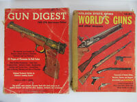 2 Vintage FIREARM BOOKS - 1966 Gun Digest & 1958 World's Guns (Golden State Arms